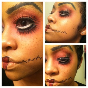 doll makeup for halloween