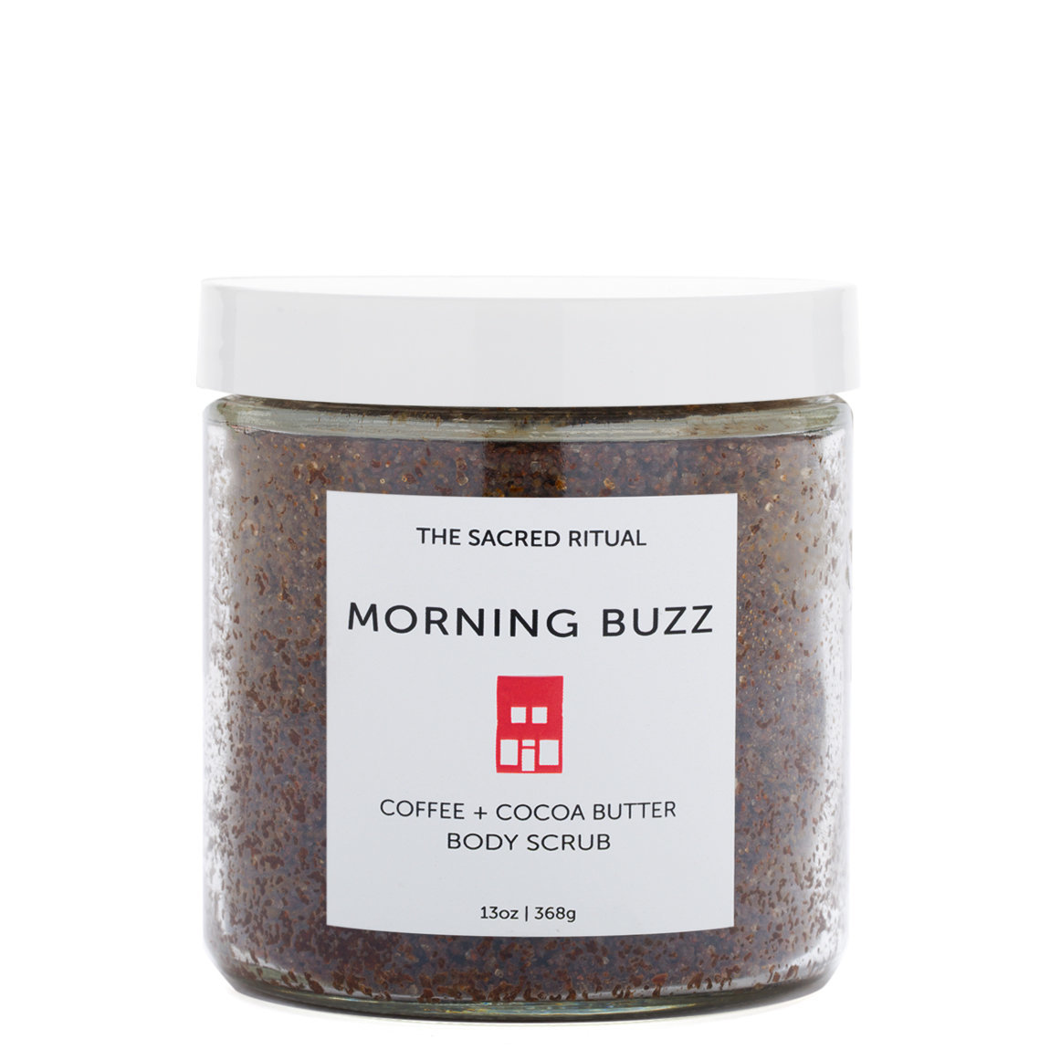 The Sacred Ritual Body Scrub Morning Buzz product smear.