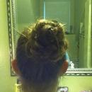 Braided flower bun