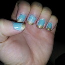 Mint and Gold Gradient