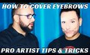 How to Cover Up Eyebrows with Glue Stick and Powder #FierceFaceFriday - mathias4makeup
