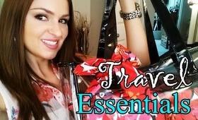 My Travel Essentials and Makeup Bag