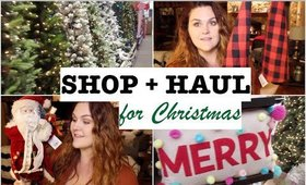 SHOP + HAUL for Christmas Decorations!!
