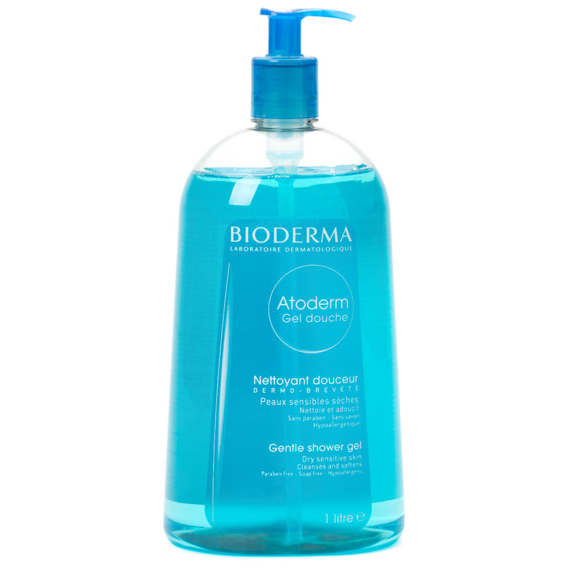 Bioderma Atoderm Shower Gel 1 L product swatch.
