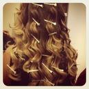ombré hair pin curls