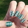 Retro Green Polka Dots
