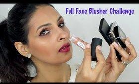 FULL FACE USING ONLY BLUSHERS Challenge | Manisha Moments