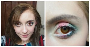 Day 17 of the #28DaysOfArt challenge! A look inspired by my sweater and wearing my homemade brown colored contacts!