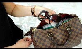 How I Pack My Bag Louis Vuitton Speedy 30