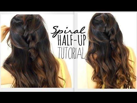 5 Minute Spiral Half Updo Hair Tutorial Easy Hairstyles