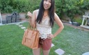 OOTD: Crochet Top, Scalloped Shorts & BagInc Giveaway ♥