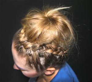 I learned it on Beautylish! http://www.beautylish.com/v/rmiwac/gyaru-upside-down-braided-bun