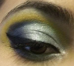 A glittery Cinderella inspired look
