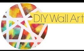DIY Striped Wall Art: JESOBSESSED