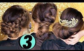 3 Elegant HOLIDAY UPDOS ★ Cute EASY HAIRSTYLES   Hair Tutorial