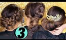 3 Elegant HOLIDAY UPDOS ★ Cute EASY HAIRSTYLES | Hair Tutorial