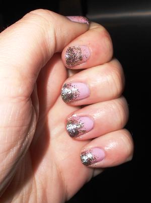 New Years Nails! I love glitter haha :D