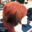 Red/Orange Blow Pop Hair