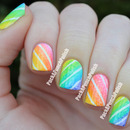 Gradient Candy Stripes Tape Mani