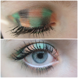 I wanted to redo my braided eyeshadow but with less opaque and more pigmented colors. It super fun and cool!