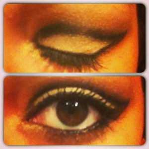 Eyes Charnel..!! Or and black ;)  By BellàyMak´up...<3 Kiss,..