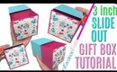 DIY SLIDE GIFT BOX 3 inch slide gift box tutorial and how to, Slide Gift Box using Cutting Machine