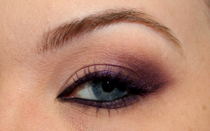 Close up of my Adele- Inspired Makeup