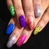 Neon Skittle Nails
