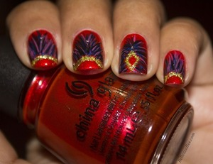 Inspired by the costume headpieces of Carnival http://www.bellezzabee.com/2013/01/carnival-costume-nails.html