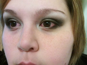 A smoky eye created using the Sephora Slim palette (limited edition 2010)