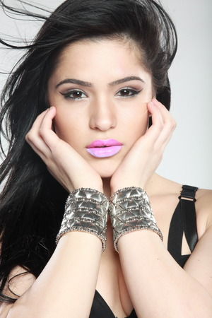 Ombre lip I created on Yani Diaz for a beauty shoot in Ft. Lauderdale, Florida. Photography by Ptah from Art Crazy photography.