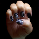 Black & White Elegant Nail Art