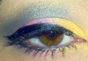 gold purple and blue