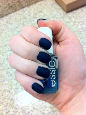OPI Russian Navy & Essie Matte About You over. (no flash)