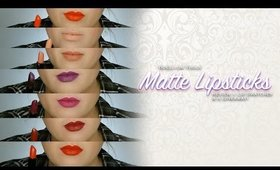 #MATTENATION l💛l Bdellium Tools Matte Lipstick Collection Review + Lip Swatches & A GIVEAWAY!