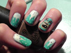 Reindeer Christmas nails :)