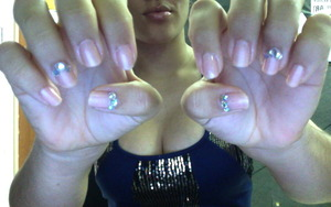 classy nude with large iridescent gems