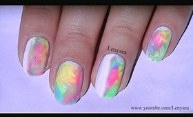 Easy Pastel Watercolor Nails