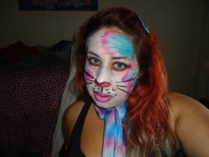 This was some fun face makeup I did as costume assistant on Cats the Musical.
