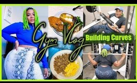 Plus Size Gym Vlog | HEAVY LEG DAY | Low Carb High Protein Meals to Build Curves