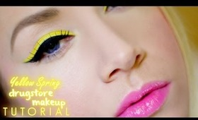 Winged Yellow Spring Drugstore Makeup Completed Look