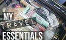 MY TRAVEL ESSENTIALS + MAKEUP ROUTINE | SCCASTANEDA