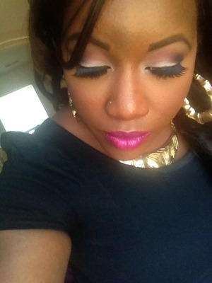Look i did on myself before i went to a video shoot.