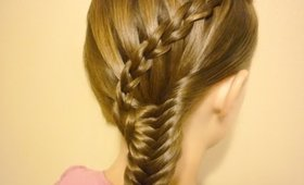 Scissor Waterfall Braid & Fishtail Combo Hairstyle
