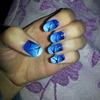 Sky colour gradient nails