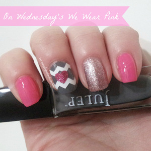 Manicure, full description and colors used on my blog http://www.hairsprayandhighheels.net/2013/02/on-wednesdays-we-wear-pink-notd.html#
