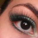 My first time ever wearing false lashes!!!