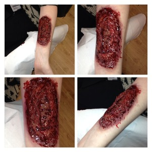 First time attempt at a bloody wound