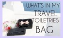 WHAT'S IN MY TRAVEL TOILETRIES BAG   Bethni