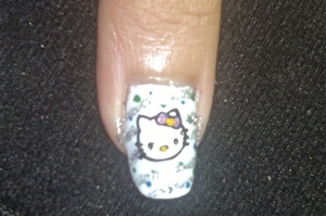 hello kitty nail art to watch video tutorial for this look, SUBSCRIBE free to my youtube nailart channel: www.youtube.com/nailartbynidhi